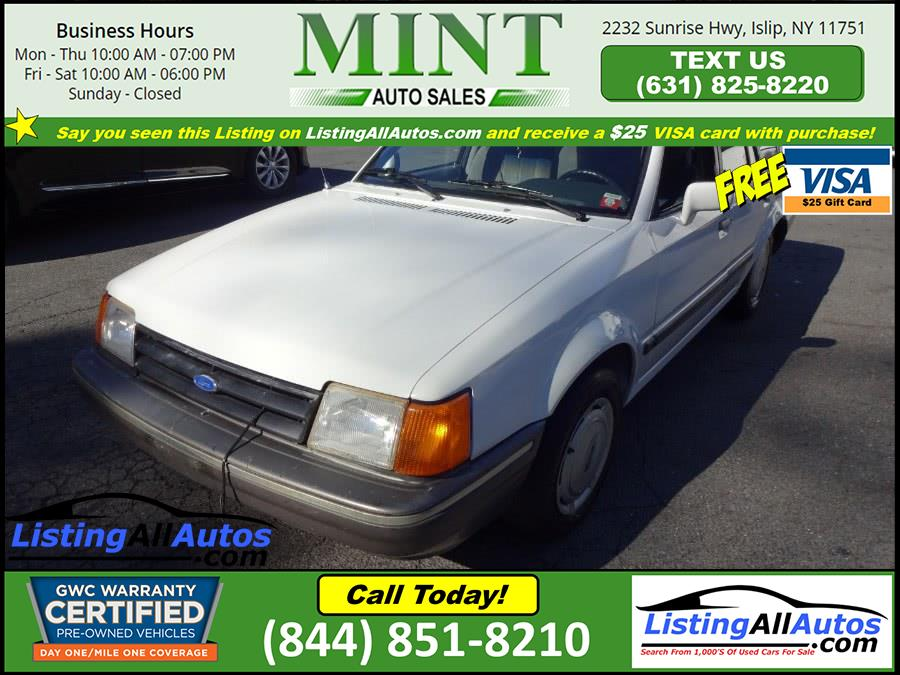 Used Ford Escort 4dr Hatchback LX 1990 | www.ListingAllAutos.com. Patchogue, New York