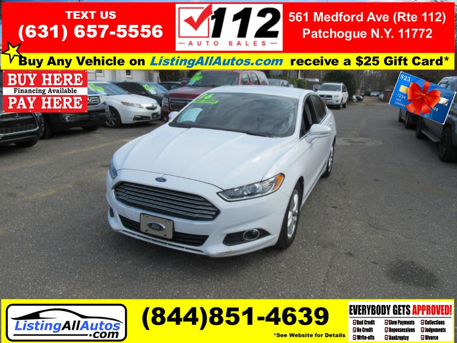 Used Ford Fusion 4dr Sdn SE FWD 2016 | www.ListingAllAutos.com. Patchogue, New York