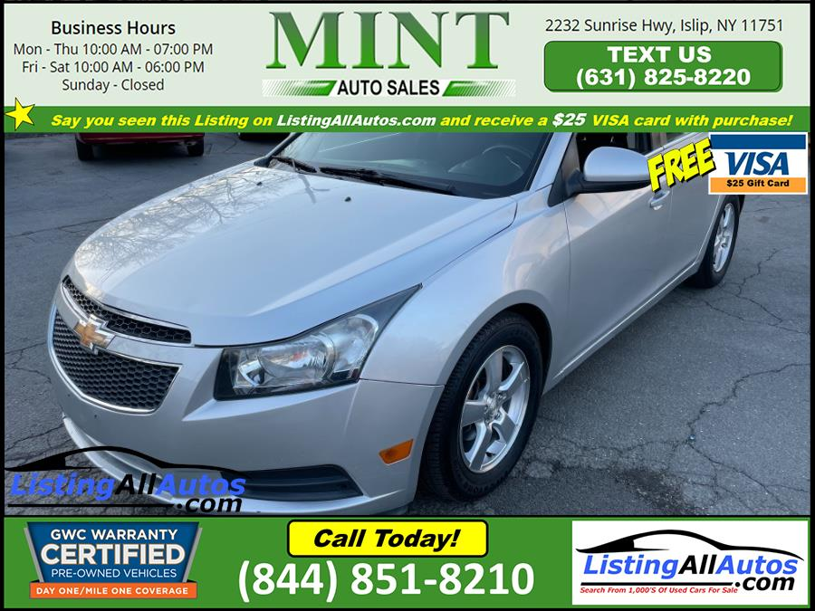Used 2014 Chevrolet Cruze in Patchogue, New York | www.ListingAllAutos.com. Patchogue, New York