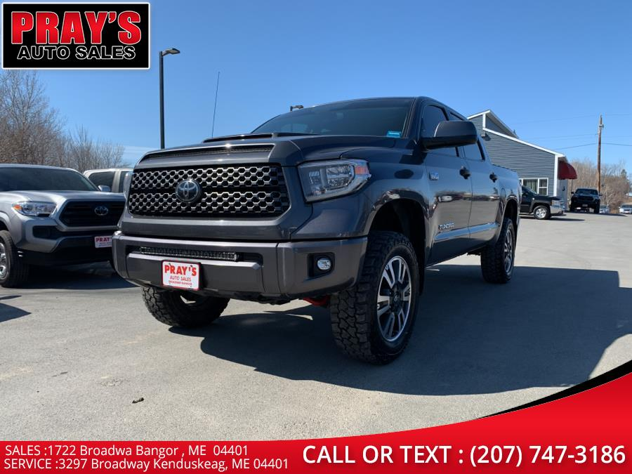 Used Toyota Tundra 4WD SR5 CrewMax 5.5'' Bed 5.7L (Natl) 2018 | Pray's Auto Sales . Bangor , Maine