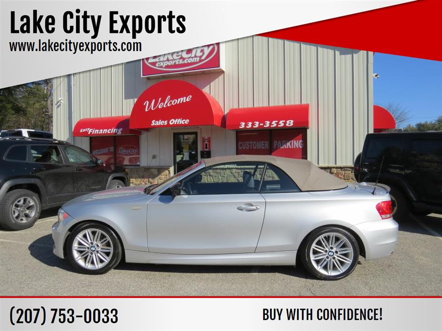 Used BMW 1 Series 128i 2dr Convertible SULEV 2013 | Lake City Exports Inc. Auburn, Maine