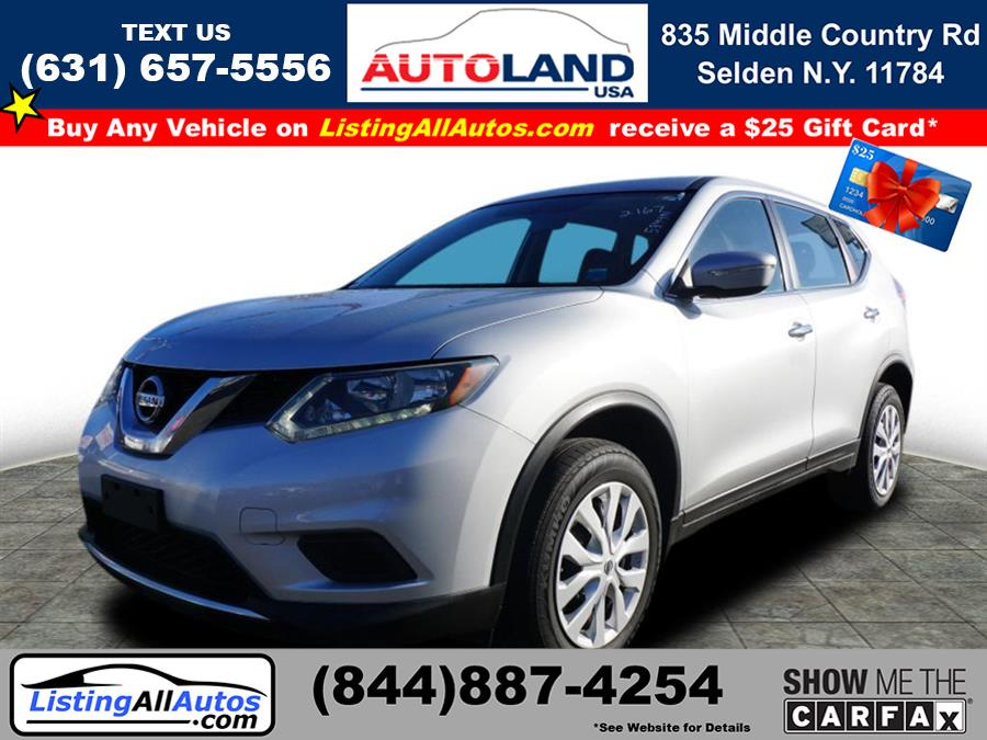 Used Nissan Rogue S 2015 | www.ListingAllAutos.com. Patchogue, New York