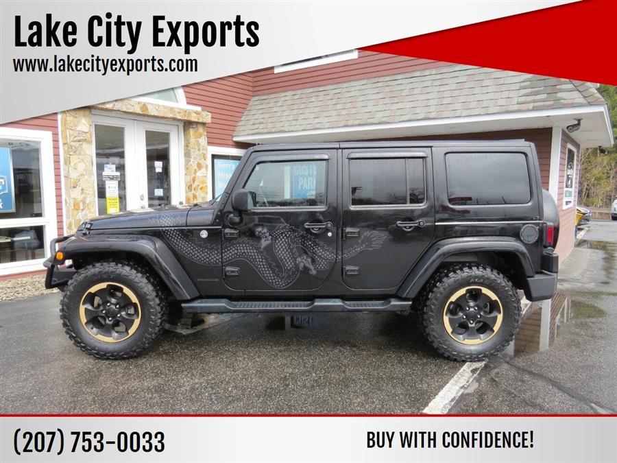 Used Jeep Wrangler Unlimited Dragon 4x4 4dr SUV 2014 | Lake City Exports Inc. Auburn, Maine