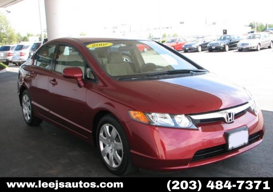 Used 2007 Honda Civic Sdn in North Branford, Connecticut | LeeJ's Auto Sales & Service. North Branford, Connecticut