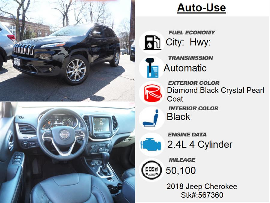 Used Jeep Cherokee Limited 2018 | Autouse. Andover, Massachusetts