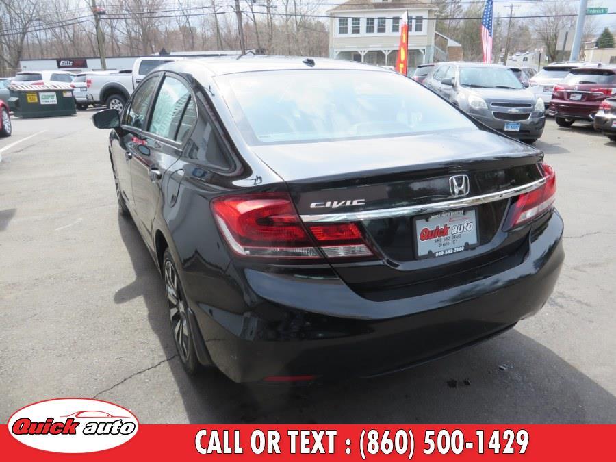 Used Honda Civic Sedan 4dr CVT EX-L 2014   Quick Auto LLC. Bristol, Connecticut