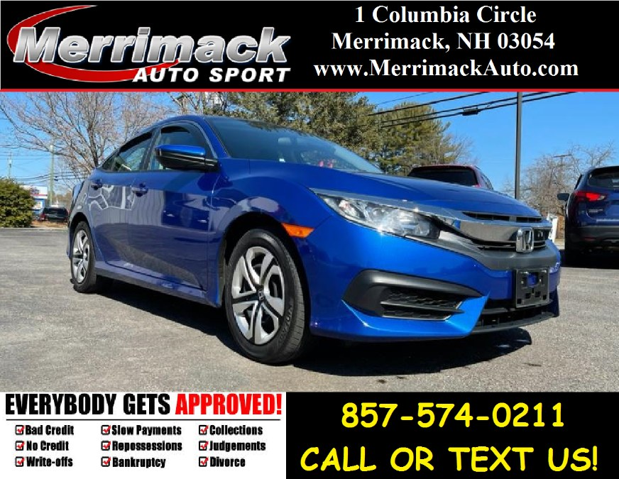 Used 2018 Honda Civic Sedan in Merrimack, New Hampshire | Merrimack Autosport. Merrimack, New Hampshire