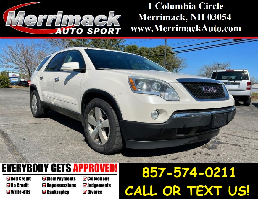 Used 2012 GMC Acadia in Merrimack, New Hampshire | Merrimack Autosport. Merrimack, New Hampshire