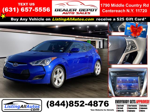 Used Hyundai Veloster 3dr Cpe Auto w/Black Int 2012 | www.ListingAllAutos.com. Patchogue, New York