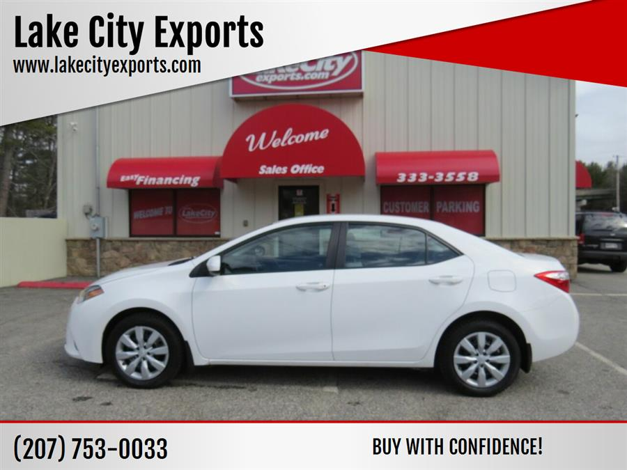 Used Toyota Corolla LE 4dr Sedan 2016 | Lake City Exports Inc. Auburn, Maine