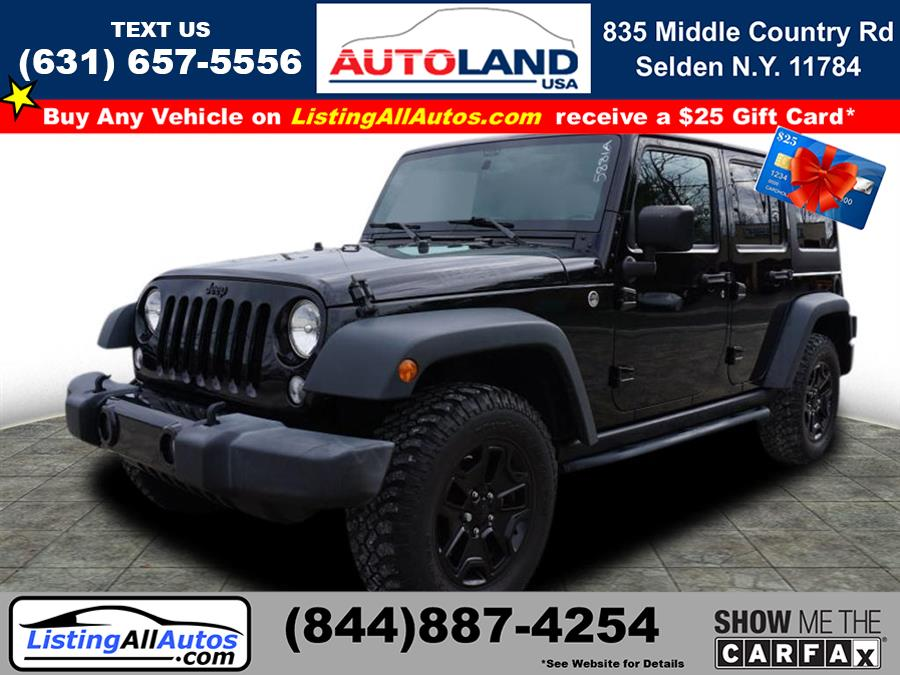 Used 2015 Jeep Wrangler Unlimited in Patchogue, New York | www.ListingAllAutos.com. Patchogue, New York