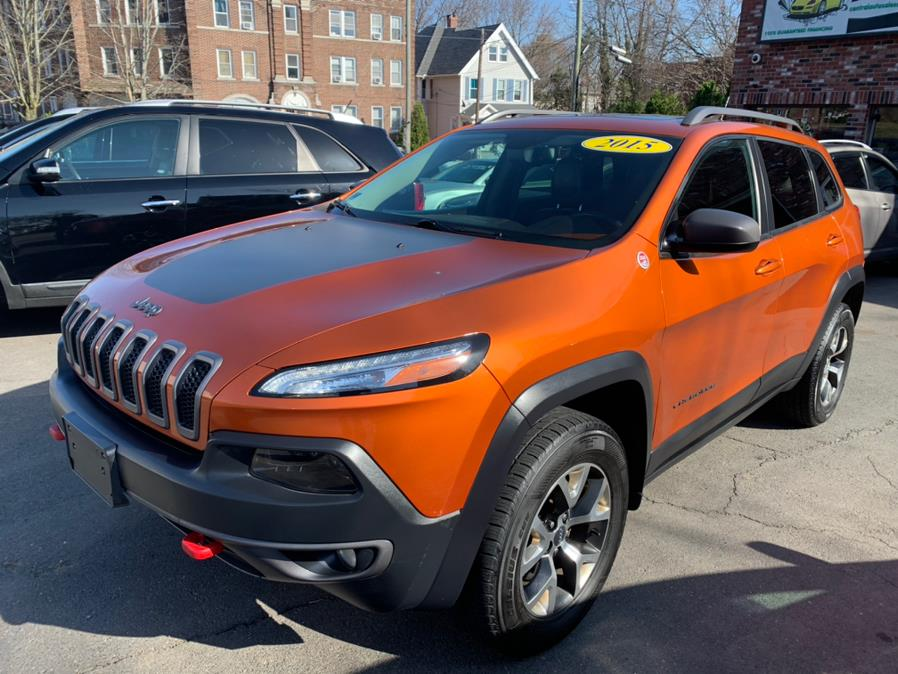 Used Jeep Cherokee 4WD 4dr Trailhawk 2015 | Central Auto Sales & Service. New Britain, Connecticut