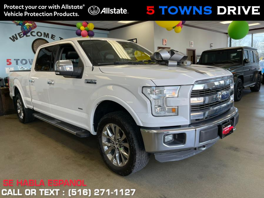 """Used Ford F-150 4WD SuperCrew 145"""" Lariat 2016   5 Towns Drive. Inwood, New York"""