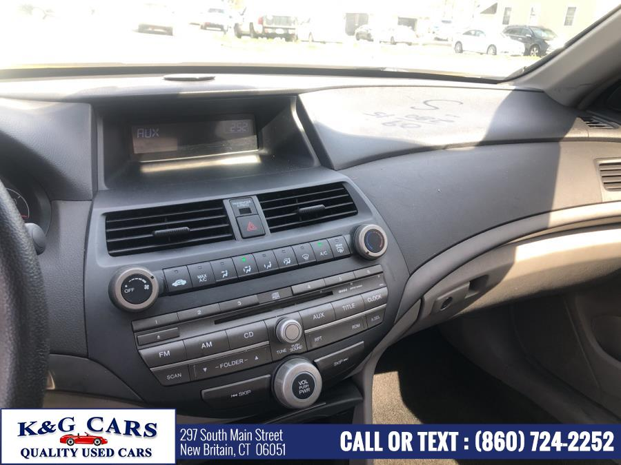 Used Honda Accord Sdn 4dr I4 Auto LX 2009   K and G Cars . New Britain, Connecticut