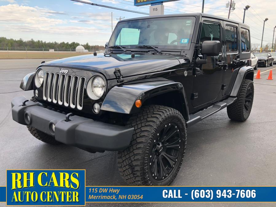 Used Jeep Wrangler Unlimited Sahara 4WD 2016 | RH Cars LLC. Merrimack, New Hampshire