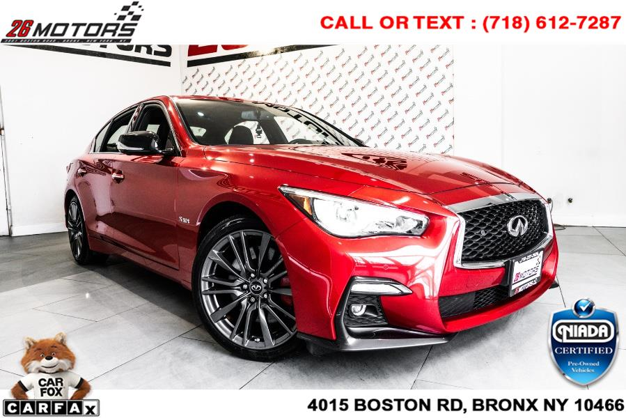 Used INFINITI Q50 RED SPORT 400 AWD 2018 | 26 Motors Corp. Bronx, New York