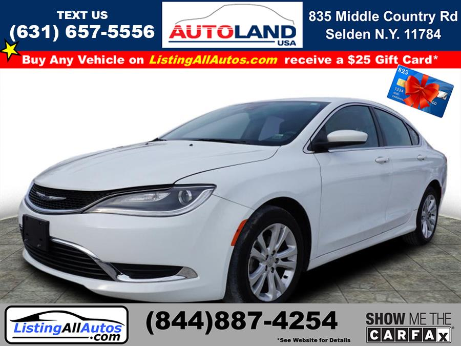 Used 2015 Chrysler 200 in Patchogue, New York | www.ListingAllAutos.com. Patchogue, New York