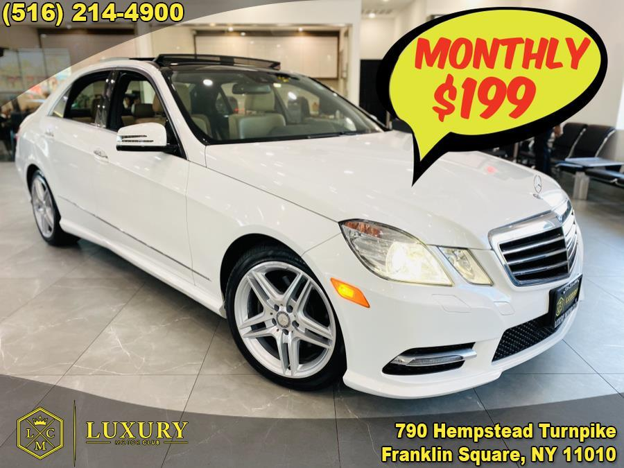 Used Mercedes-Benz E-Class 4dr Sdn E 350 Sport 4MATIC *Ltd Avail* 2013 | Luxury Motor Club. Franklin Square, New York