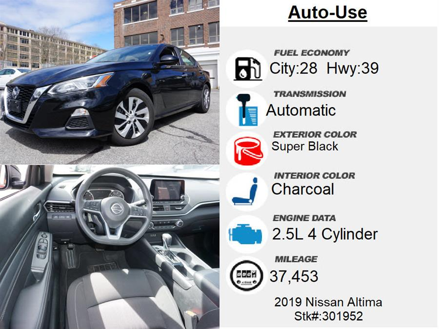 Used Nissan Altima 2.5 S 2019   Autouse. Andover, Massachusetts