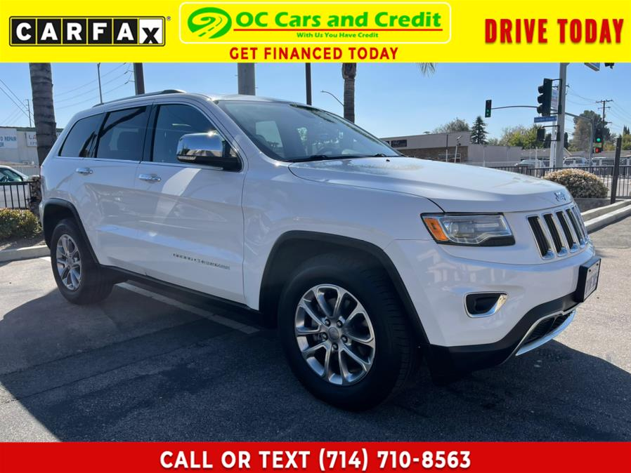 Used Jeep Grand Cherokee RWD 4dr Limited Diesel 2015 | OC Cars and Credit. Garden Grove, California