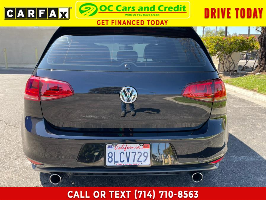 Used Volkswagen Golf GTI 4dr HB Man SE 2016 | OC Cars and Credit. Garden Grove, California