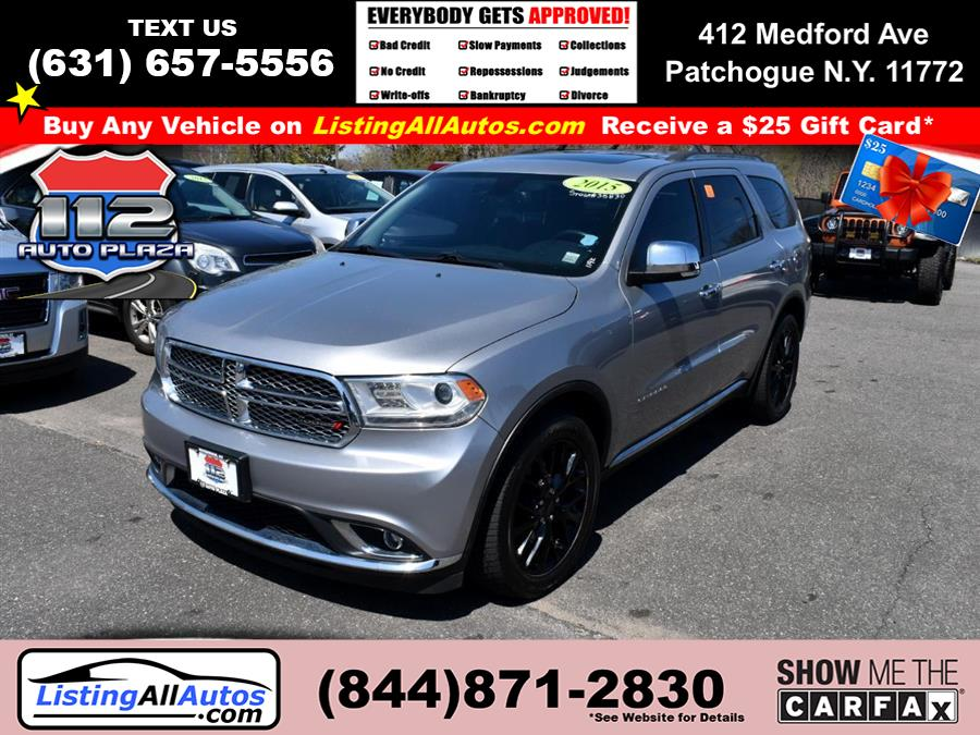 Used 2015 Dodge Durango in Patchogue, New York | www.ListingAllAutos.com. Patchogue, New York