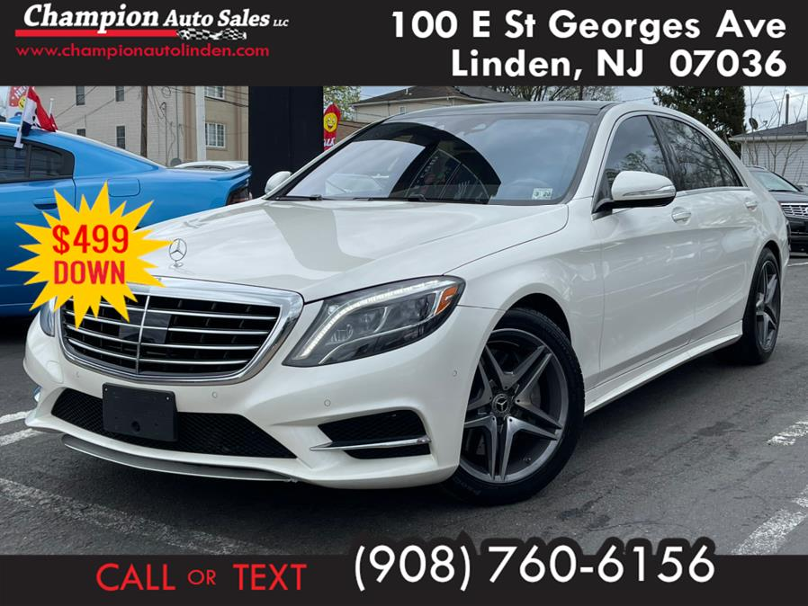 Used 2015 Mercedes-Benz S-Class in Linden, New Jersey | Champion Auto Sales. Linden, New Jersey