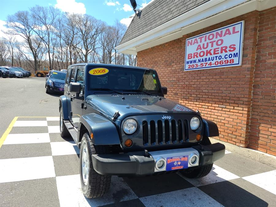 Used Jeep Wrangler 4WD 4dr Unlimited Sahara 2008 | National Auto Brokers, Inc.. Waterbury, Connecticut