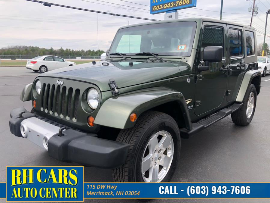 Used Jeep Wrangler Unlimited Sahara 4WD 2008 | RH Cars LLC. Merrimack, New Hampshire
