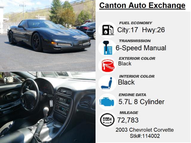 Used Chevrolet Corvette Z06 2003   Canton Auto Exchange. Canton, Connecticut