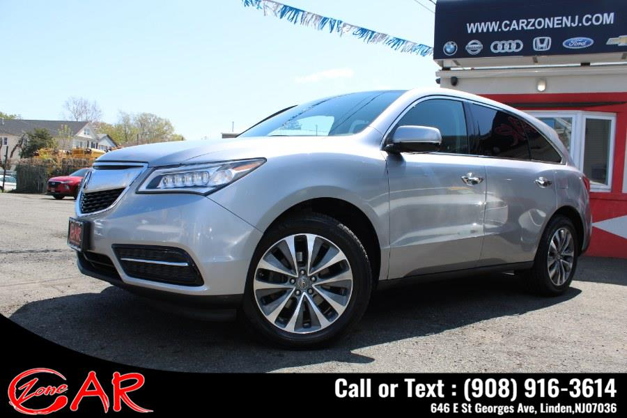 Used Acura MDX SH-AWD 4dr w/Tech/Entertainment 2016 | Car Zone. Linden, New Jersey