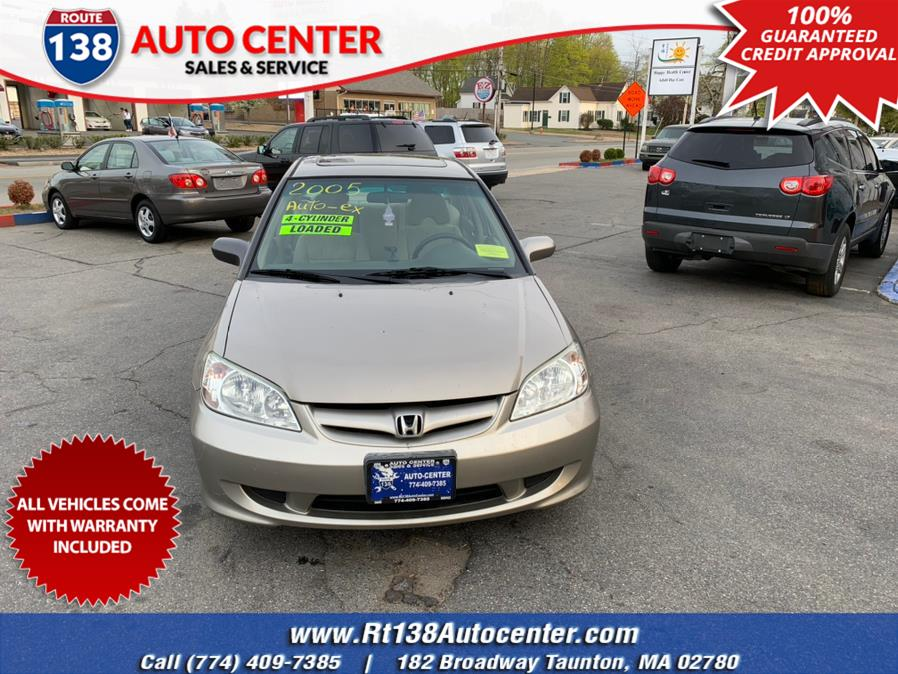 Used 2005 Honda Civic Sdn in Taunton, Massachusetts | Rt 138 Auto Center Inc . Taunton, Massachusetts