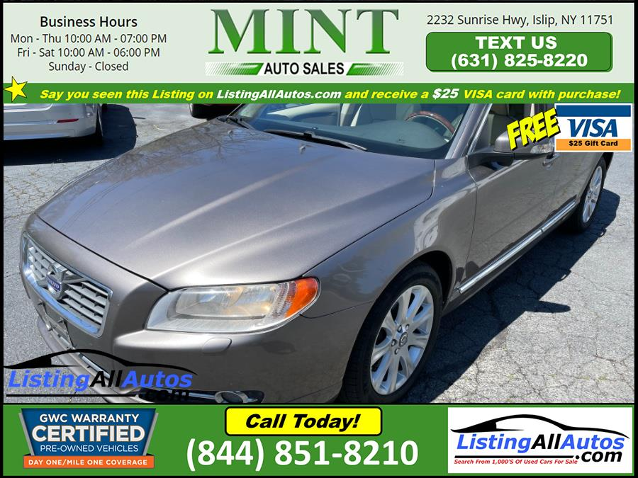 Used Volvo S80 4dr Sdn 3.2L FWD w/Moonroof 2011 | www.ListingAllAutos.com. Patchogue, New York