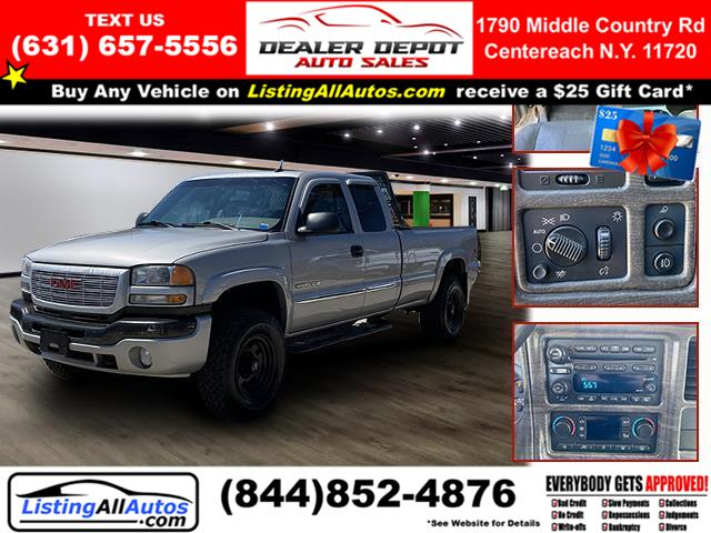 "Used GMC Sierra 2500hd Ext Cab 143.5"" WB 4WD Work Truck 2004 