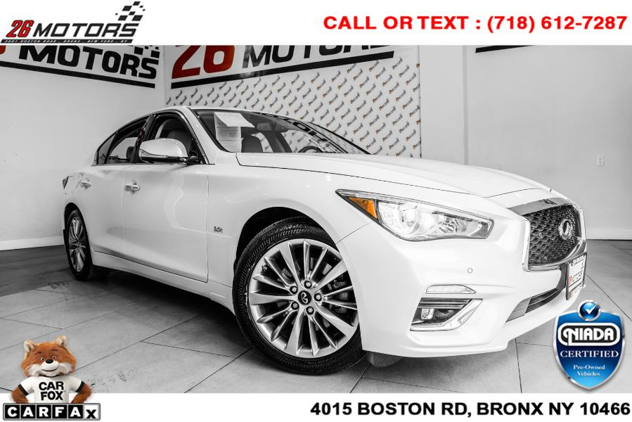 Used INFINITI Q50 3.0t LUXE AWD 2018 | 52Motors Corp. Woodside, New York