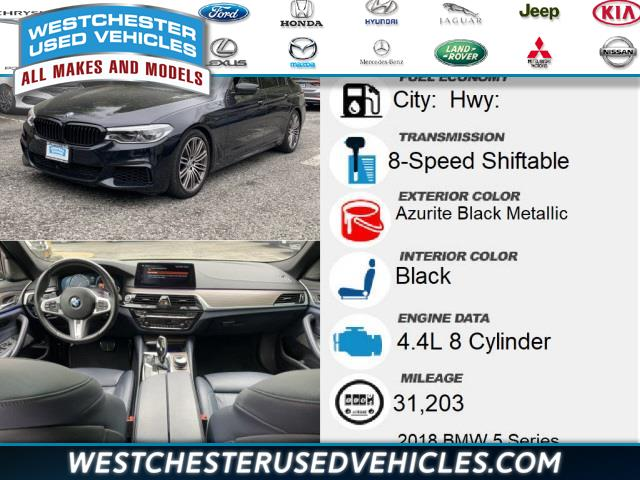 Used BMW 5 Series M550i xDrive 2018   Westchester Used Vehicles. White Plains, New York