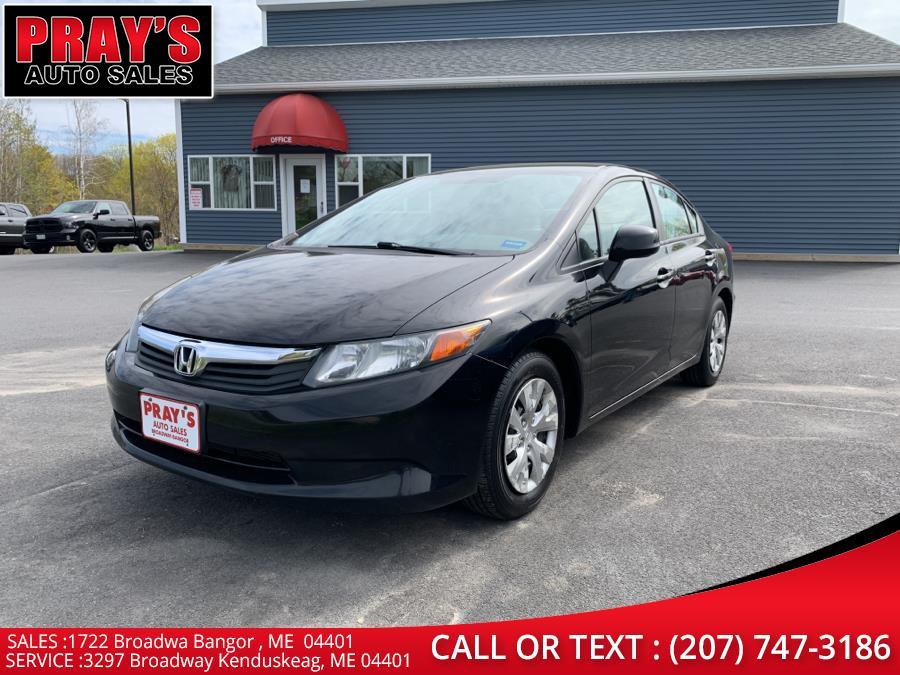 Used 2012 Honda Civic Sdn in Bangor , Maine | Pray's Auto Sales . Bangor , Maine