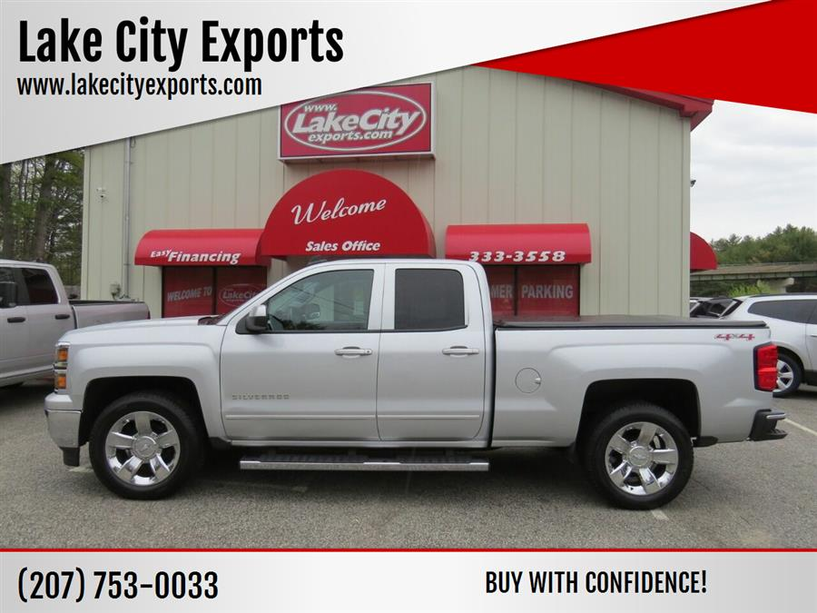 Used Chevrolet Silverado 1500 LT 4x4 4dr Double Cab 6.5 ft. SB 2015 | Lake City Exports Inc. Auburn, Maine