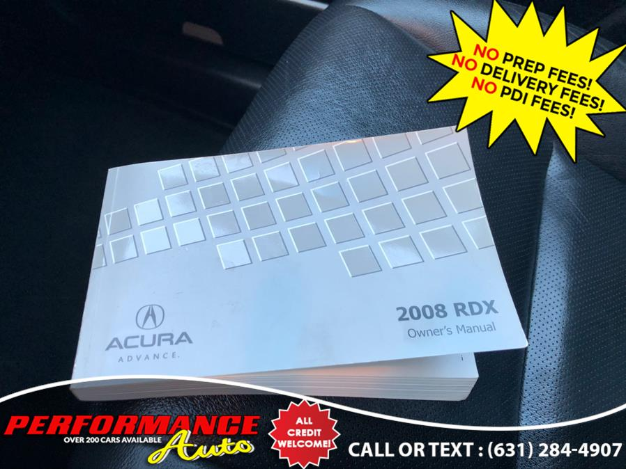 Used Acura RDX 4WD 4dr Tech Pkg 2008 | Performance Auto Inc. Bohemia, New York