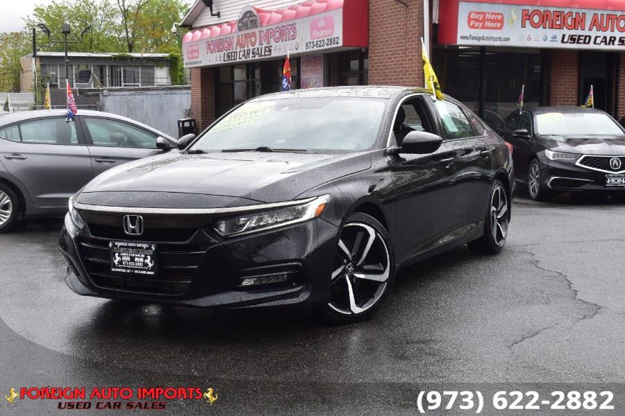 Used Honda Accord Sedan Sport 1.5T CVT 2018 | Foreign Auto Imports. Irvington, New Jersey