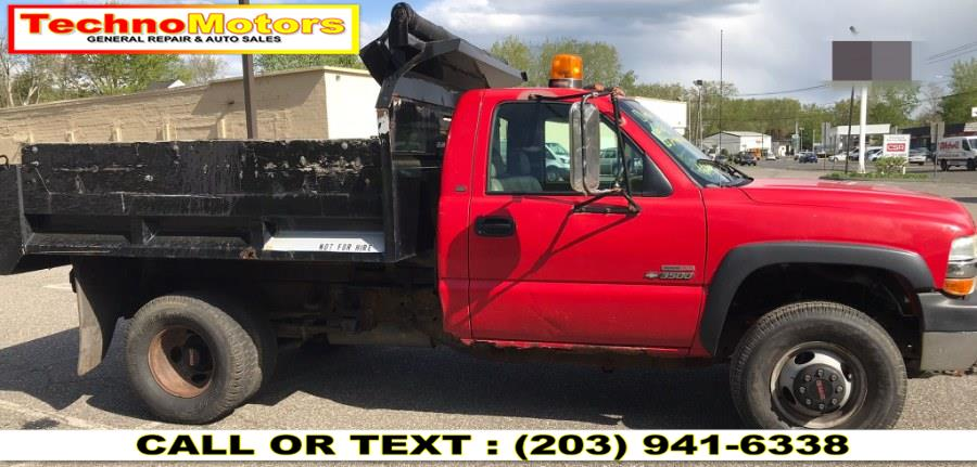 "Used Chevrolet Silverado 3500 Reg Cab 137.0"" WB, 60.4"" CA 4WD 2002 | Techno Motors . Danbury , Connecticut"