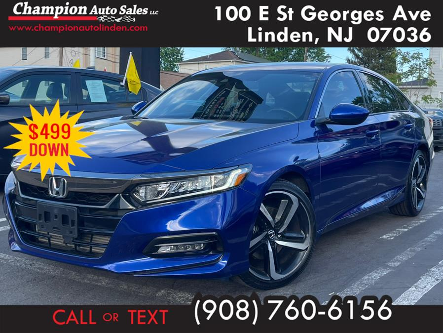 Used 2018 Honda Accord Sedan in Linden, New Jersey | Champion Auto Sales. Linden, New Jersey