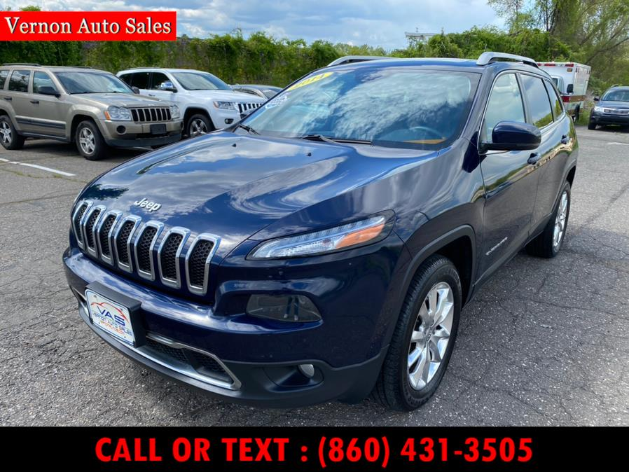 Used Jeep Cherokee 4WD 4dr Limited 2014 | Vernon Auto Sale & Service. Manchester, Connecticut