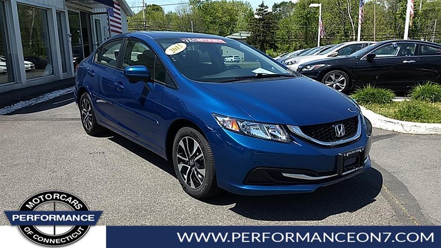 Used Honda Civic Sedan 4dr CVT EX 2015 | Performance Motor Cars. Wilton, Connecticut