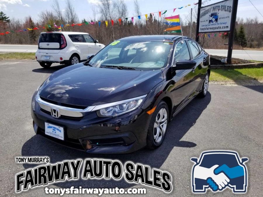 Used Honda Civic Sedan LX CVT 2018 | Fairway Auto Sales. Hancock, Maine