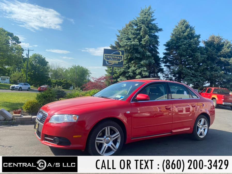 Used Audi A4 4dr Sdn Man SE 2.0T FrontTrak 2008 | Central A/S LLC. East Windsor, Connecticut