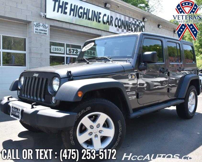 Used 2018 Jeep Wrangler JK Unlimited in Waterbury, Connecticut | Highline Car Connection. Waterbury, Connecticut