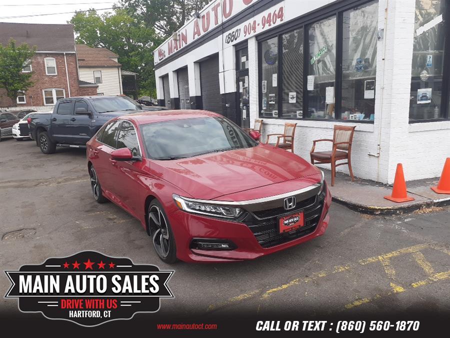 Used Honda Accord Sedan Sport 1.5T CVT 2018   Main Auto Sales LLC. Hartford, Connecticut