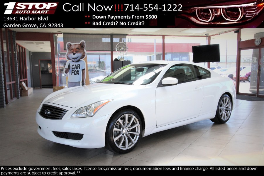 Used 2009 INFINITI G37 Coupe in Garden Grove, California | 1 Stop Auto Mart Inc.. Garden Grove, California