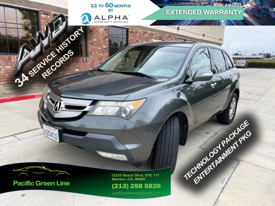 Used Acura MDX 4WD 4dr Tech/Entertainment Pkg 2008 | Pacific Green Line. Stanton, California